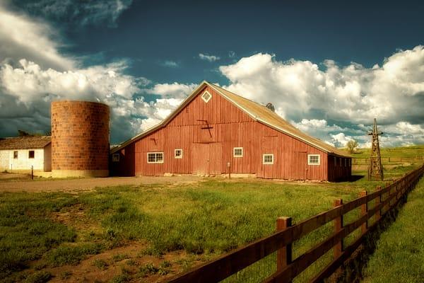 Photo of Historic Parker Colorado Barn with Bock Grain Silo