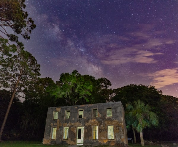 Old Horton House at Night