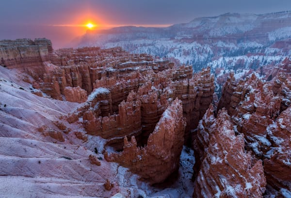 Bryce Canyon Winter Sunrise Photograph for Sale as Fine Art