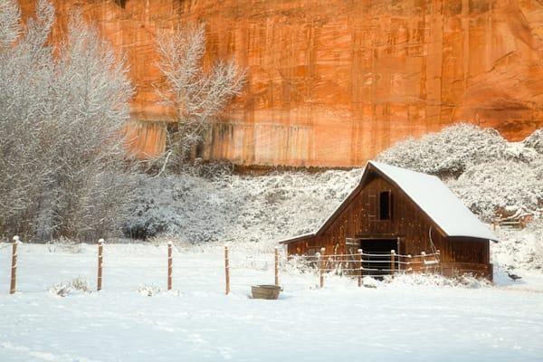 Snowy Barn Photograph for Sale as Fine Art