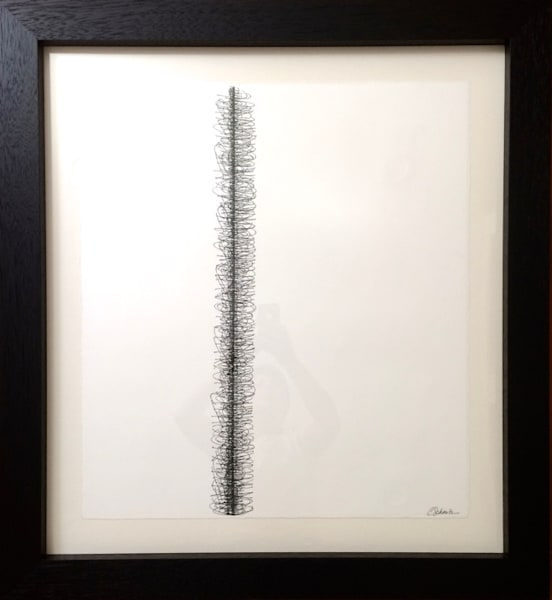 Control, ink on paper, 34x32 Framed, 2006