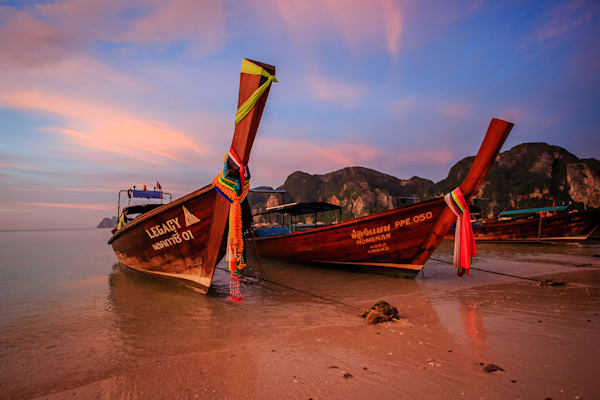 Thai Boats Photography Art | Light and Impressions LLC