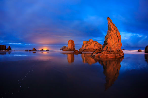 Bandon At Night Photography Art | Light and Impressions LLC