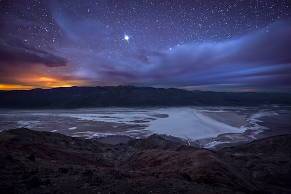 Jupiter Over Badwater Photograph for Sale as Fine Art