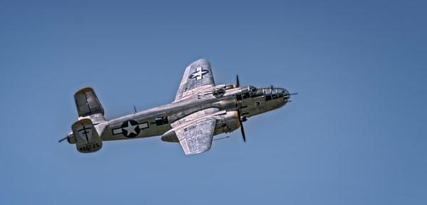 Vintage B-25 Mitchell Super Rabbit In The Air Restored fleblanc