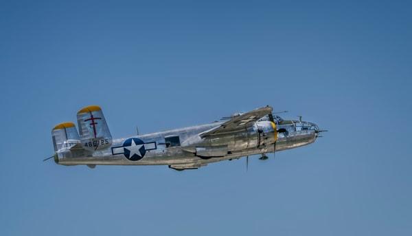 Historic B-25 Mitchell Super Rabbit In The Air Restored fleblanc