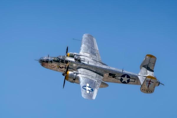 B-25 Mitchell Super Rabbit In The Air Restored Warbird fleblanc