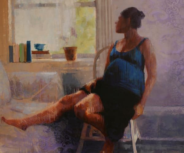 Sitting with Time, oil on canvas, 43x50, 2010