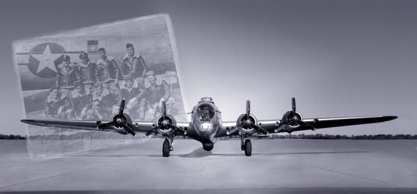 Black and White Boeing B-17 Flying Fortress WW2 Crew fleblanc