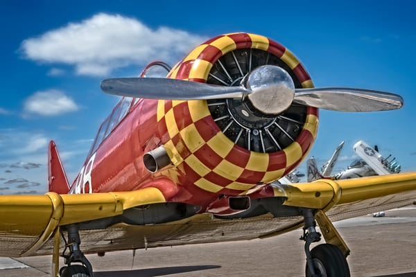 T-6/AT-6 Texan Trainer WW2 Military Restored Aircraft fleblanc