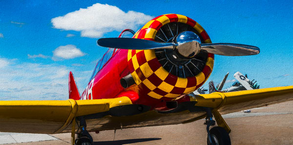 T-6/AT-6 Texan Trainer WW2 Military Old Vintage Aircraft fleblanc