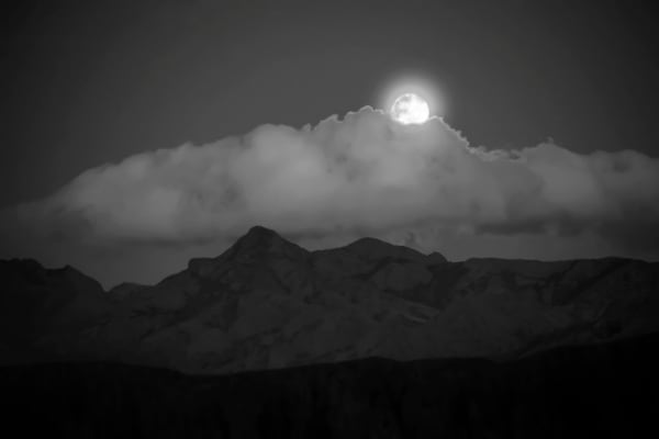 Photographs of Organ Mountains Moonrise | d'Ellis PhotographicArt by Bill