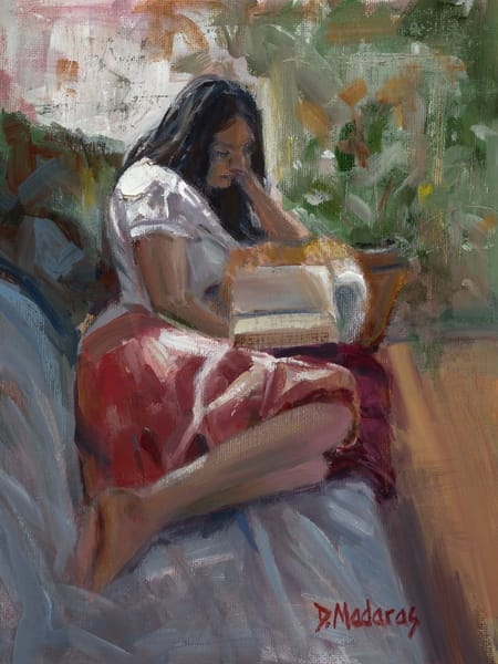 Girl on the Couch | Southwest Art Gallery Tucson