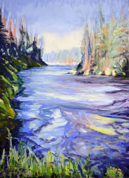 landscape painting metolius river central oregon