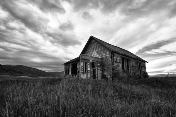 If These Old Walls Could Speak - Swan Valley House on the Hill - Fine Art Prints on Metal, Canvas, Paper & More By Kevin Odette Photography