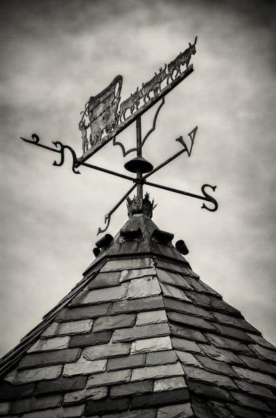 Black & White Photo Wrought Iron Weathervane Cherokee Castle & Ranch