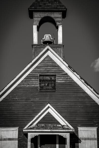Black & White close up Photo Historic Colorado One Room Schoolhouse