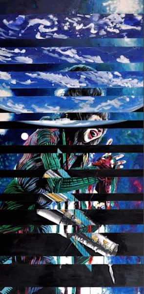 Karen O Hubble Original Splice Painting by Wet Paint NYC Artist Michael Serafino