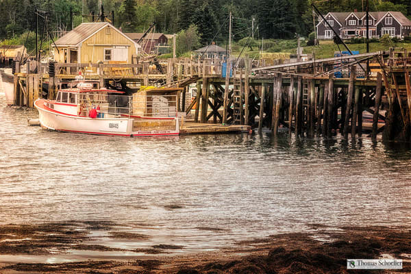 Port Clyde Harbor Maine is featured in this new fine art print release by Tom Schoeller.
