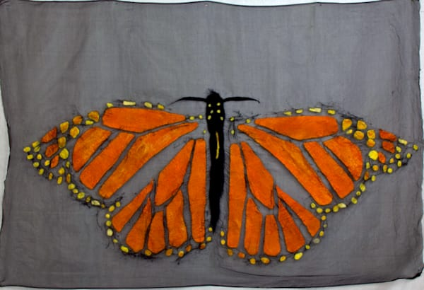 Felted Monarch Butterfly hanging