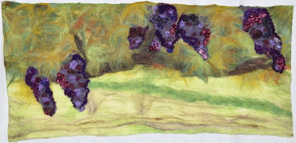 Anam Cara Vineyard inspired felted artwork