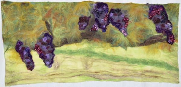 Anam Cara Vineyard inspired felted artwork
