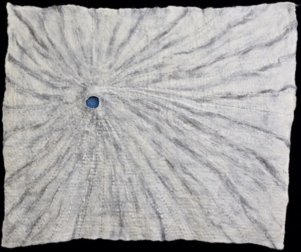 Abl's Blue Pearl Fine Art Felted Wall Hanging