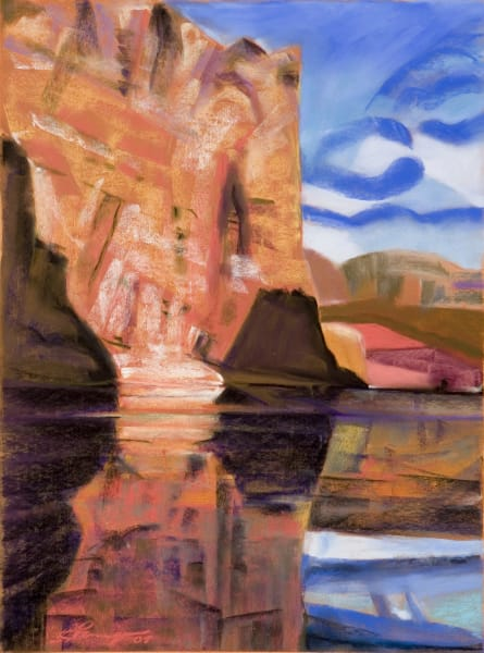 Grand Canyon Colorado River Impressionistic painting