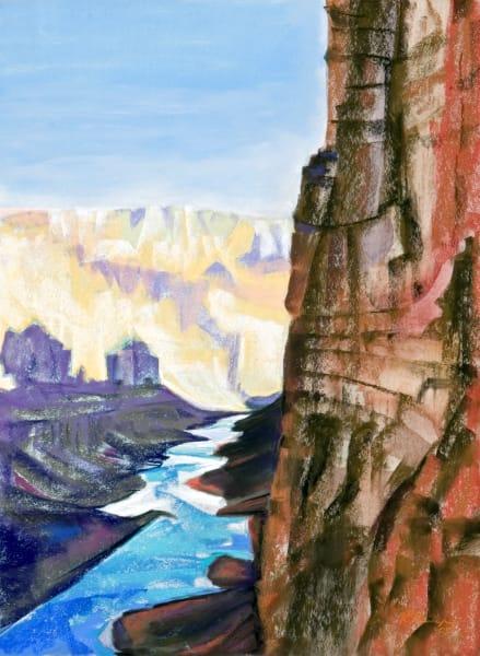 landscape painting grand canyon anasasi grainaries