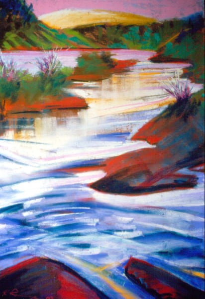 landscape painting willamete valley, oregon mckenzie river