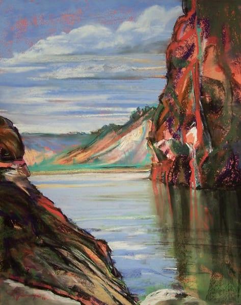 landscape painting central oregon prineville reservoir