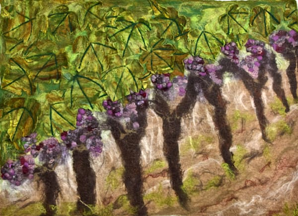Wine Grapes on the vine original artwork