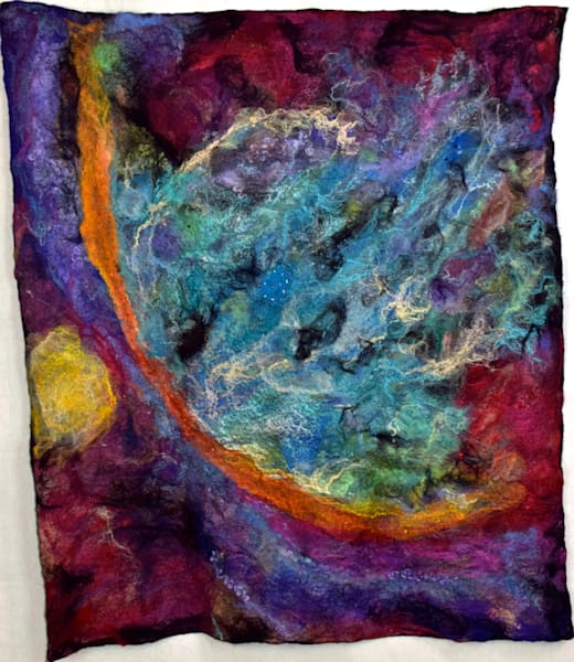 Fine Art Felted Nebula Wall Hanging