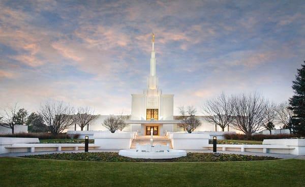 Denver Temple - Winter Sky