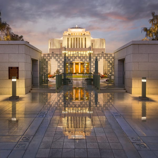 Cardston Temple - Sacred Reflection