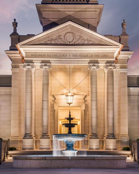 Hartford Temple - Fountains