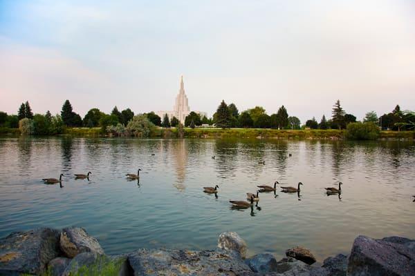 Idaho Falls Temple - River