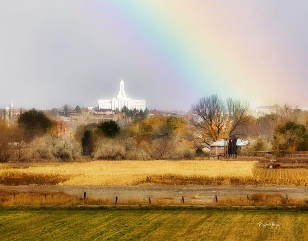 Mt. Timpanogos Temple - Rainbow