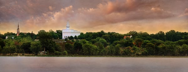Nauvoo Temple - Across the Mississippi Panoramic