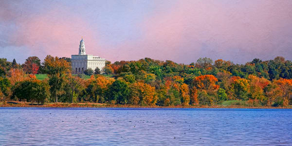 Nauvoo Temple - Fall on the Mississippi