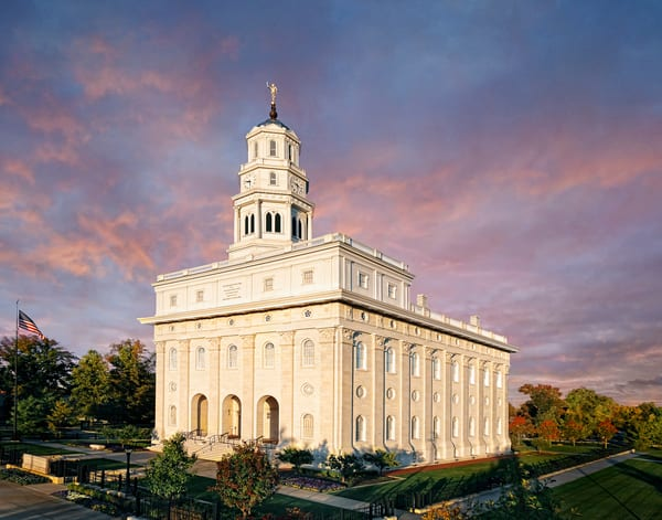 Nauvoo Temple - Fall Sky