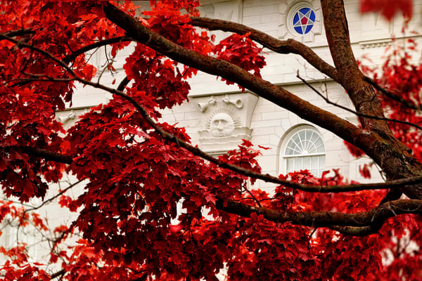 Nauvoo Temple - Red Leaves