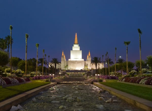 Oakland Temple - Night Stream
