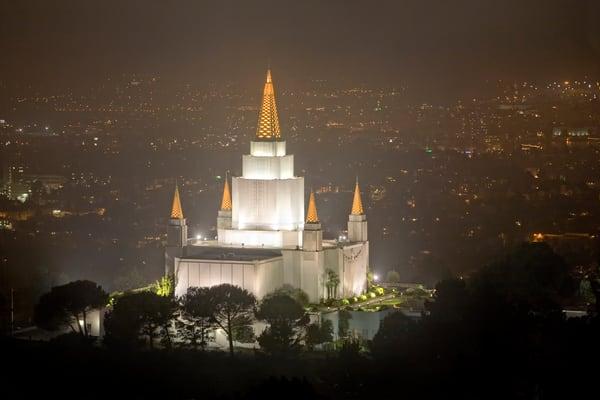 Oakland Temple - Night Vista