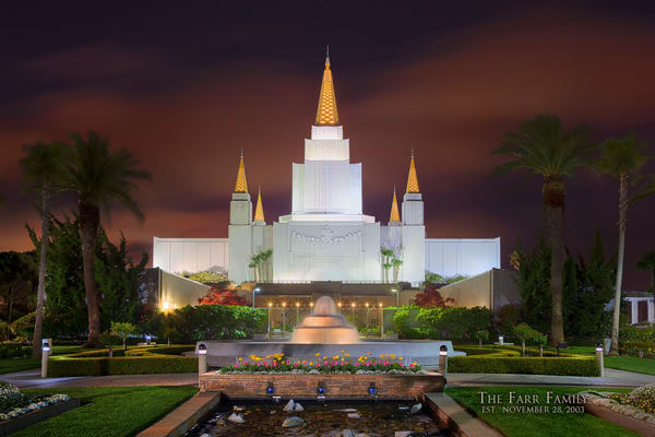 Oakland Temple - Red Sky