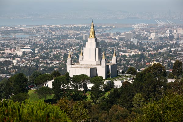 Oakland Temple - with Bay