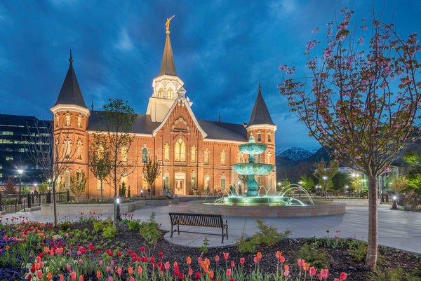 Provo City Center Temple - Spring Showers