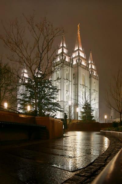 Salt Lake Temple - Rain Path