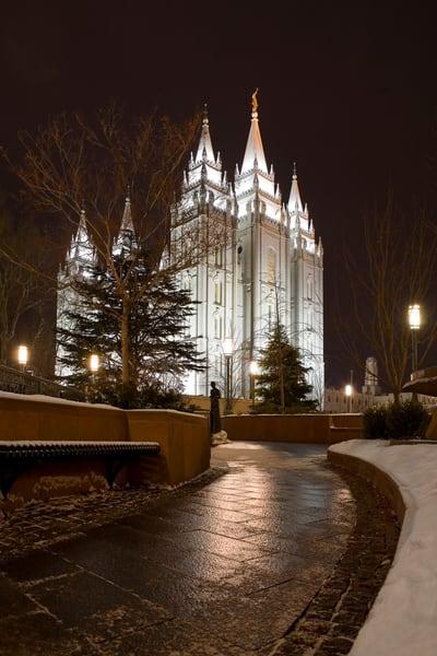 Salt Lake Temple - Snow Path
