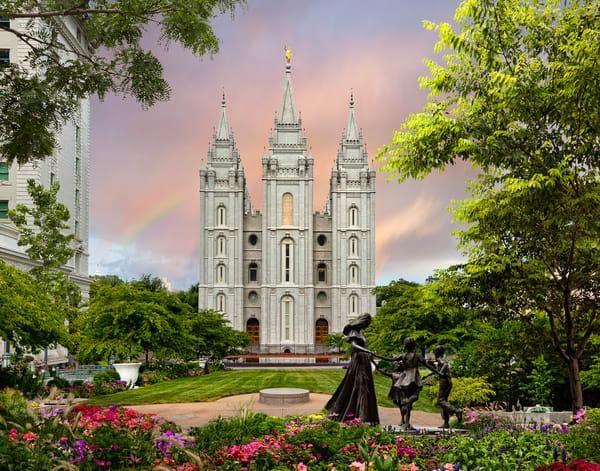 Salt Lake Temple - Spring Statue